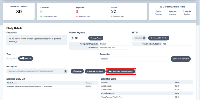 knowledge base_setup dynamic code with qualtrics_[dashboard CR preview highlight]_12.22.2020