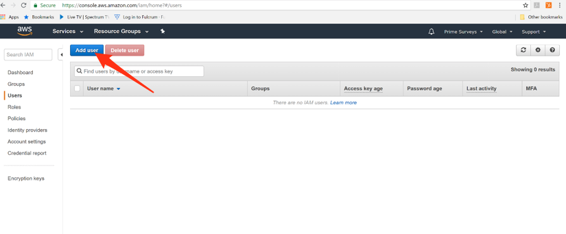 Add a user on AWS