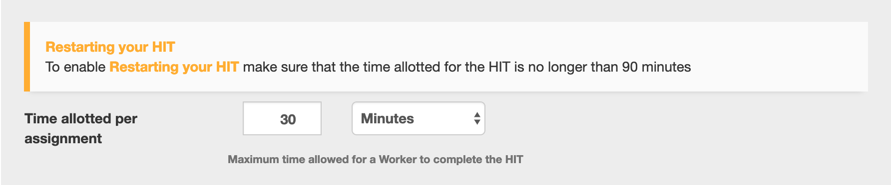 TurkPrime Setup HIT and Payment: Time Allotted Per Assignment