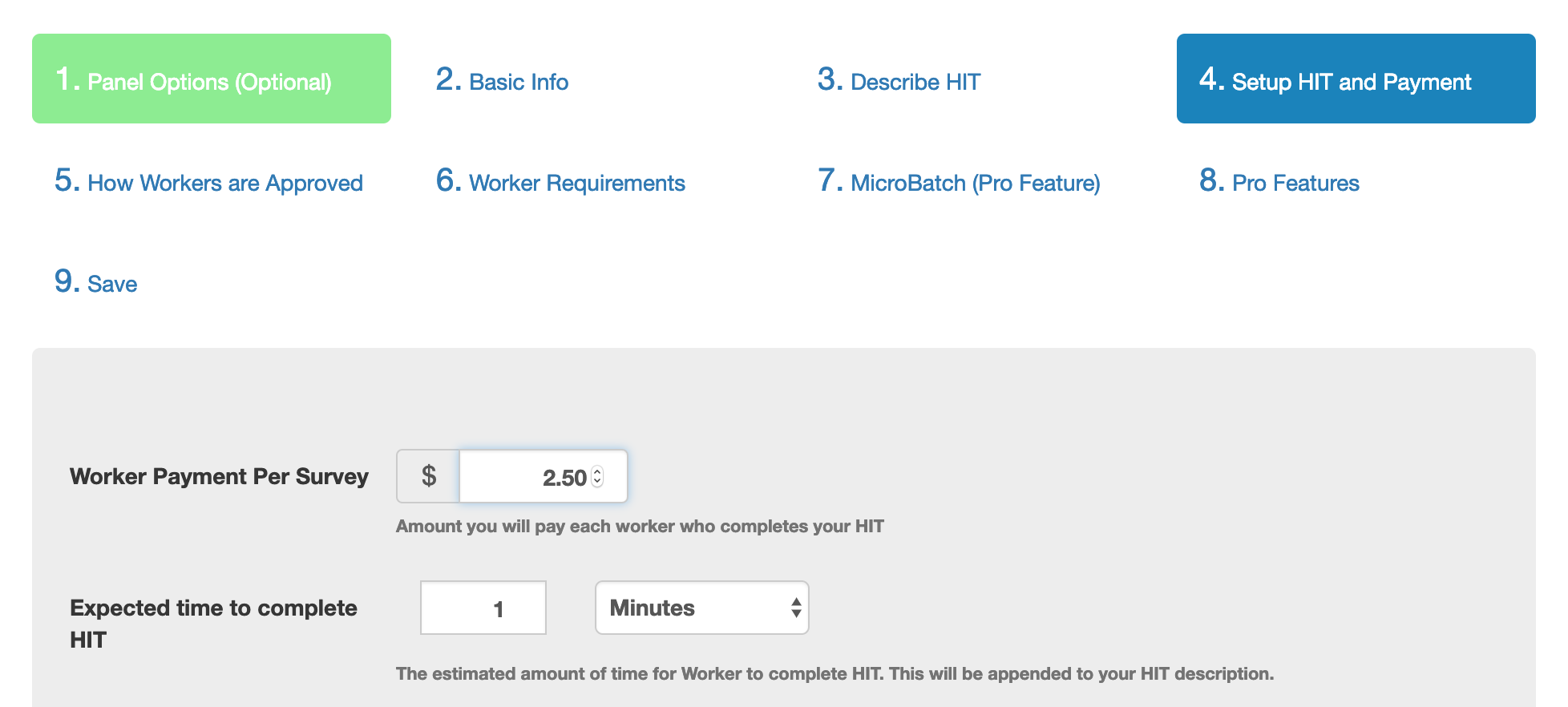 TurkPrime Setup HIT and Payment: Worker Payment